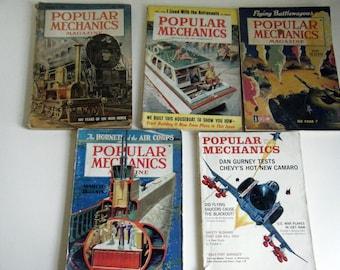 Vintage Popular Mechanics instant collection 5 magazines 1940 1943 1949 1959 1966