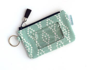 Keychain ID Wallet - Mini Keychain Wallet - ID Holder - Zip Wallet - Coin Holder Keychain - Compact Wallet