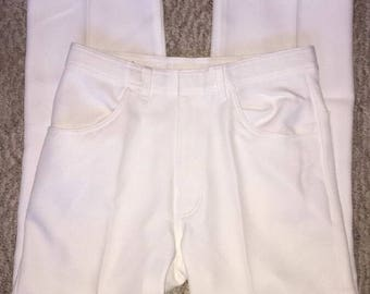 Vintage Men's Pants Made By John Blair Size 32 S White New With Tags Stretch