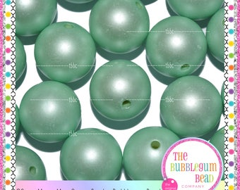 20mm MATTE MINT GREEN Bubblegum Bead, Chunky Bead, Gumball Bead, Acrylic Bead, Round Bead, Diy Jewelry Supply The Bubblegum Bead Co.
