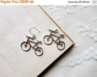 40% OFF SALE Antiqued silver adorable bicycle earrings, Spokes, Gears, Handles, & Seats