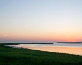 Georgia Sunrise III - Fine Art Photograph, ocean, atlantic, cumberland river, landscape, room decor, wall art, travel photography