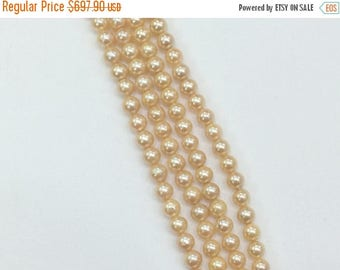 ON SALE 55% Peach South Sea Pearls, Natural Pearls, Original South Sea Pearls Non Treated Round Balls, 7-8mm, 18 Inch Strand, 50 Pcs