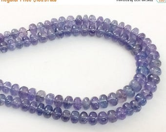 ON SALE 55% Tanzanite Beads, Natural Tanzanite Plain Rondelles, Tanzanite Necklace, 4-5.5mm, 7 Inch, 50 Pcs - AGP355