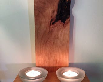 Wooden Wall Mount Candle Holder, Wall Sconce, Rustic Candle Sconce, Rustic Shelf, Hardwood candle holder,