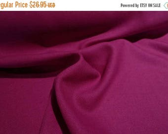 ON SALE Stunning Magenta Twill Weave Pure Italian Wool Designer  Fabric--By the Yard