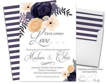 Modern Engagement Invitation - Couples Engagement Invite - Engagement Party - Bridal Shower Invitation - Bridal Invite - Wedding Shower