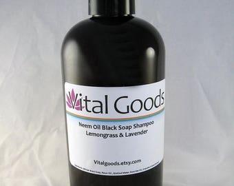 ON SALE Dreadlock shampoo Neem Oil Black Soap Shampoo Lemongrass &Lavender 12oz (VEGAN)