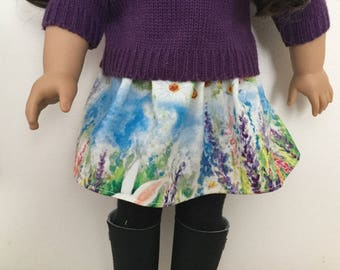 Hidden bunny skirt for 18in dolls