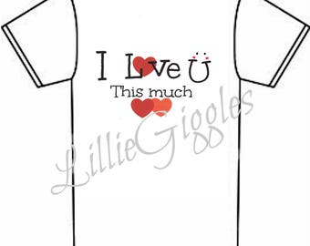 I love you this much tee for children Kiddie t-shirt