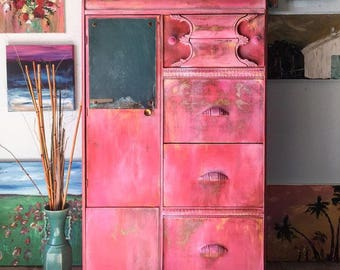 Coral Pink Armoire