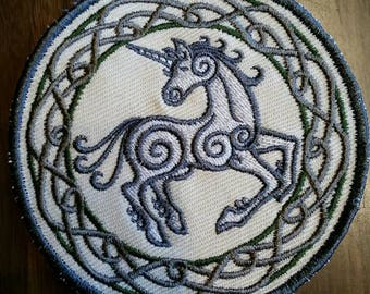 Celtic patch,unicorn patch
