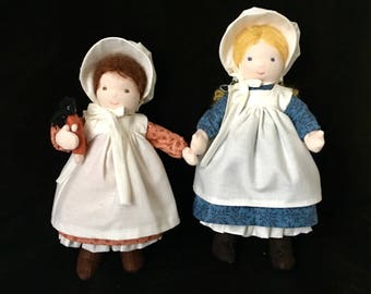 Mary and Laura Ingalls Waldorf Dolls