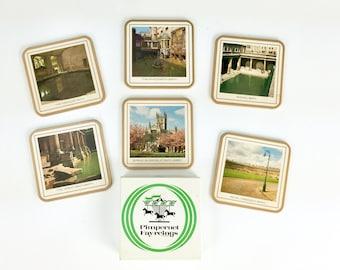 Vintage Pimpernel Fayreings Bath England Coasters Set of Six, UK Coasters with Original Box