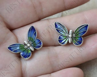 Antique silver Butterfly Bead distance piece ,Butterfly metal beads spacers finding beads,spacers finding beads charm