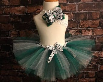 St. Patrick's Day Tutu - Green and White Tutu - Lucky Charm - Shamrock Tutu - Marathon Tutu