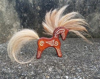 Customized Leather and Horse Hair Totem - Leather Horse Totem - Little Pony Horsehair Jewelry - Special Keepsake