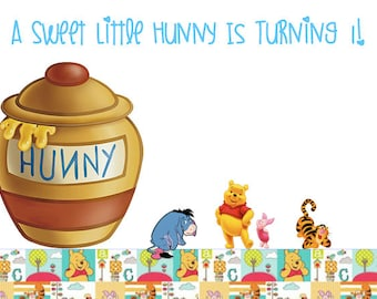 Winnie The Pooh Birthday Party Printable - DIGITAL PACKAGE