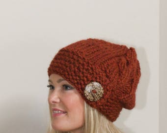 Slouchy Beanie Slouchy Hat Chunky Winter Hat Women Hat CHOOSE COLOR  Christmas Gift wife