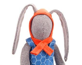 Plushie Softie doll , stuffed bunny doll , whimsical doll , softie rabbit doll , Cuddling bunny , popular stuffed toy , handmade soft animal