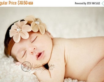 10% SALE Newborn headband, baby headbands, adult headband, adult clip, photography prop sprinkled- Kami- stretch headband