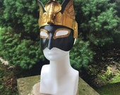 Egyptian Bastet Cleopatra Cobra headdress mask - Handmade  Warrior Costume Fantasy Renaissance Festival Masquerade