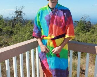Tie Dye Bath Robe One Size Upcycled