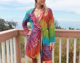Tie Dye Robe Size Small Upcycled