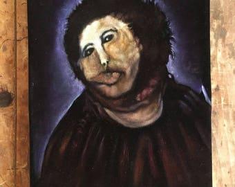 Ecce Homo - Jesus Velvet (or Ecce Mono) original black velvet painting