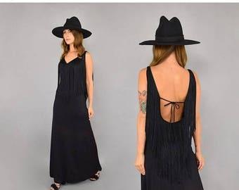 SUMMER SALE 70's Fredrick's Of Hollywood Fringe Dress