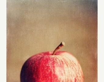 Kitchen Art: the big apple Fine Art Food Photography Wall Art Print Fruit Still life Fruit Wall Art Kitchen wall art fruit Red Kitchen Print
