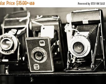 Camera Art: The Camera Collecter Fine Art Photography Black and White photography Still life photography, Camera Vintage camera print office