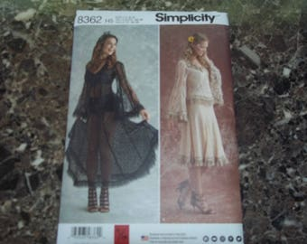 Simplicity 8362  Sheer Lace dress or blouse and skirt