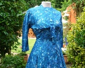 HORROCKSES FASHIONS Stylish 1950s Afternoon Dress and Cropped Tie Front Bolero Jacket 27 28 Waist