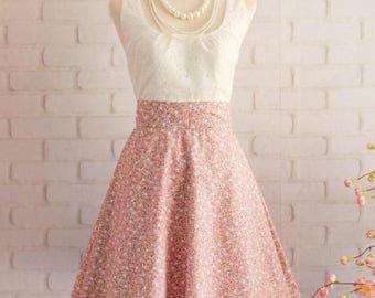 Flash SALE White lace dress pink dress pink floral dress pink floral dress pink bridesmaid dresses floral bridesmaid dresses pink party dres