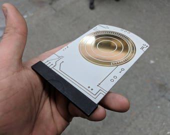 Metal Death Star Plans Data Card - Rogue One - **BONUS** optional Hope Display Stand