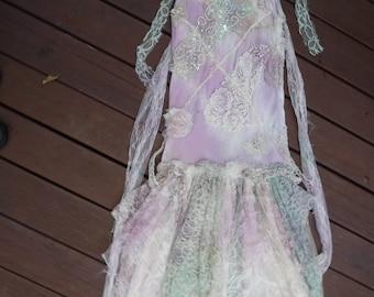 20%OFF bridesmaid girl,wildskin, bohemian dress, alternative, girl, fairy dress, ring girl dress, gypsy,woodland, tattered, shabby, fairy