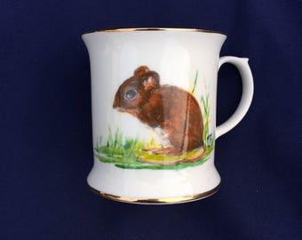 Field Mouse Hand Painted English Bone China Mug