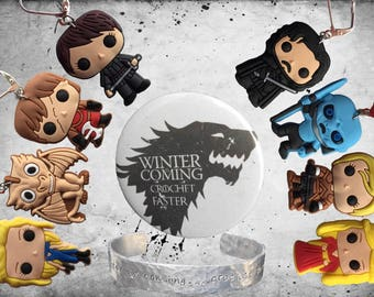 Game of thrones inspired stitch markers for knitting and crocheting