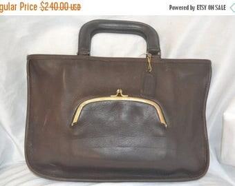 June Savings Vintage~COACH~Coach Bag~ MINT Brown Bonnie Cashin Leather Watermelon  Bag  Classic Lines Unisex  Fits a Ipad Stellar Quality