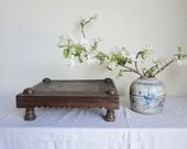 Wooden Low Table Bajot Tribal Table Platform