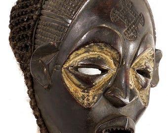 Chokwe Mask Female Mwana Pwo Congo Angola African Art 86896