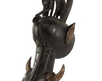 Senufo Firespitter Mask Kponyugo Animals Cote d'Ivoire African Art 29 Inch 119871