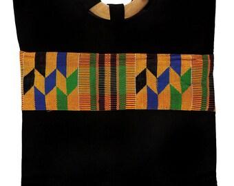 Handbag Kente Cloth Strip Yellow Textile Ghana African Art 101267