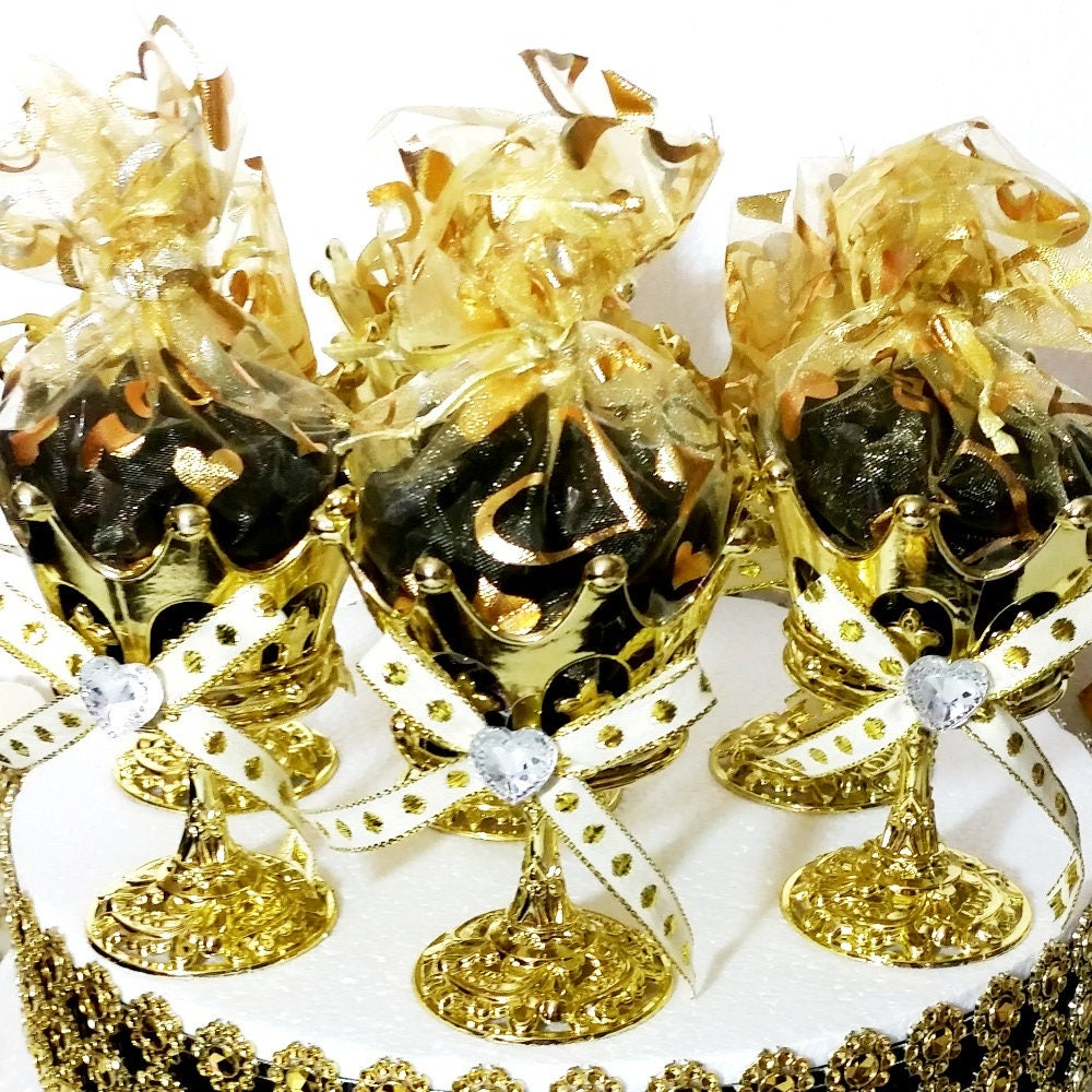 12 NEW Crown Prince Gold Cup Favors For Royal Baby Shower / Perfect For A  Black