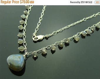 Flash Labradorite 925 Sterling Sliver Necklace