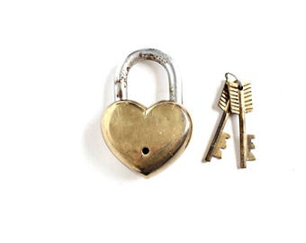 Love Padlock . Wedding Gifts for Couple . heart Lock and Key . heart padlock and key . antique padlock . heart shaped padlock #116