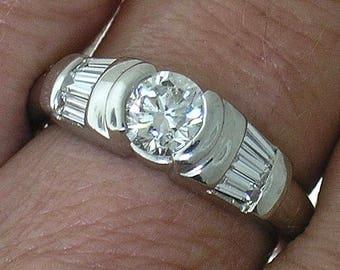 Platinum Diamond Engagement Ring~ Platinum Diamond Engagement Ring 1.12cts, TW