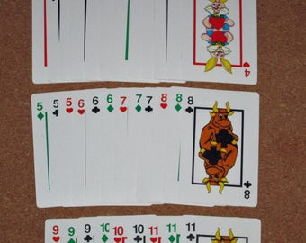 Vintage HEARTS Card Deck Playing Cards Game Made in China