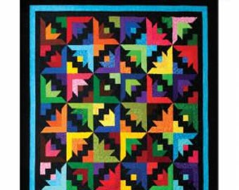 """Cozy Strip Club - Butterfly Blooms #SRRBB Quilt Pattern, Cozy Quilt Designs, Pattern for 2 1/2"""" Strips."""